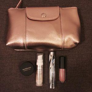 Bareminerals Rosegold Makeup Bag and Minis Set